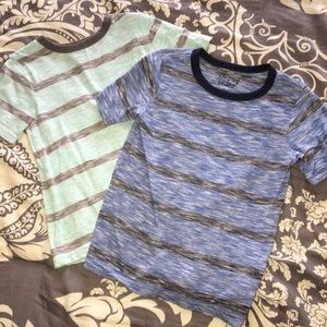Other - TWO boys striped shirts size 5